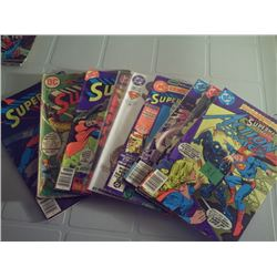 DC COMICS 9 SUPERMAN COMICS