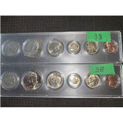 USA 6 COIN DATE SETS 1 CENT TO $1.00 1979 &1980
