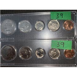 USA 5 COIN DATE SETS 1 CENT TO 50 CENT 1971.& 1985