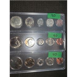 USA 5 COIN DATE SETS 1 CENT TO 50 CENT 1969 , 1984 &1985