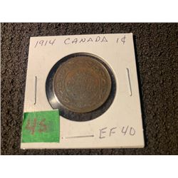 CANADA 1914 1 CENT EF