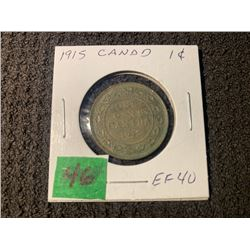 CANADA 1915 1 CENT EF