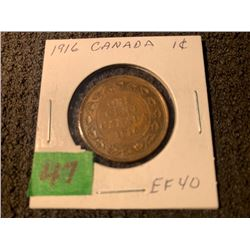 CANADA 1916 1 CENT EF