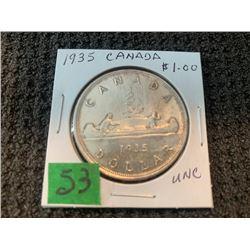 CANADA 1936 SILVER DOLLAR UNC.