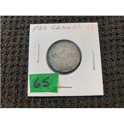 CANADA 1924 5 CENT