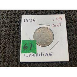 CANADA 1928 5 CENT