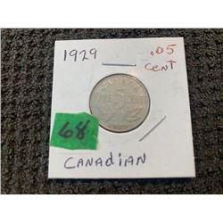 CANADA 1929 5CENT