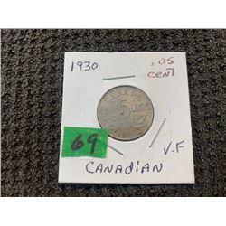 CANADA 1930 5 CENT