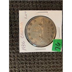 CANADA 1935 SILVER DOLLAR UNC.