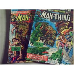 MARVEL COMICS THE MAN-THING #3 FROM 1973 AND #14 FROM 1975