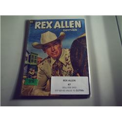 REX ALLEN WESTERN #7 10 CENT COMIC
