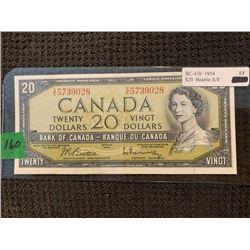 1954 $20.00 BE/RA X/E 5739028