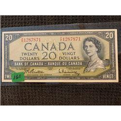 1954 $20.00 BE/RA P/E 1287871 UNC.
