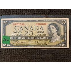 1954 $20.00 BE/RA O/E0076786 UNC.