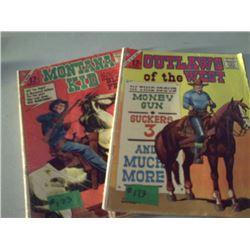 CHARLTON COMICS OUTLAWS OF THE WEST & MONTANA KID