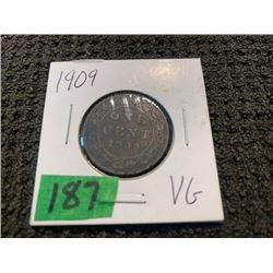 1909 1 cent vg.