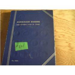 CDA. NICKEL SET 1922 TO 1960 MISSING 1925 & 1926 FAR