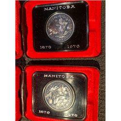 2 1970 MANITOBA NICKEL DOLLARS 1870 -1970
