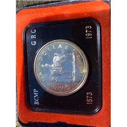 1973 CASED SILVER DOLLAR RCMP CENTENIAL 1873 TO 1973