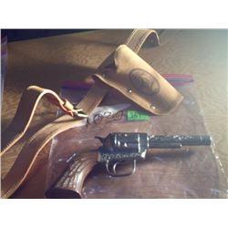 PONY BOY DIECAST CAP GUN WITH BELT & HOLSTER