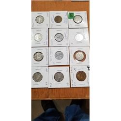 12 NICKELS ALL 1940'S
