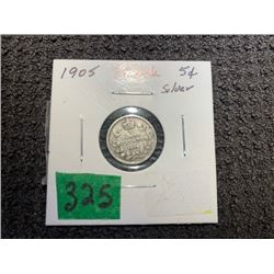 1905 5 CENT SILVER