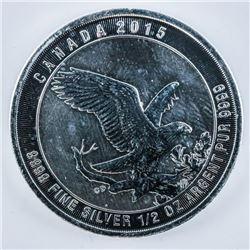 RCM 'Flying Hawk' .9999 Fine Silver $2.00  Coin