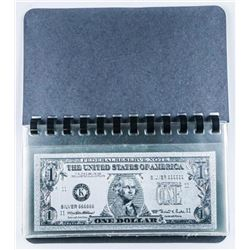 Collection .9999 Fine Silver Leaf USA-Notes  in Album
