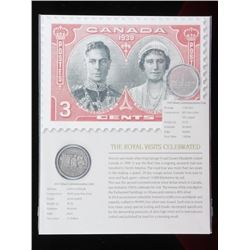 Royal Visits - Celebrated 1939 Canada Silver  Dollar, and 2014 .999 Fine Silver  Commemorative $20.0