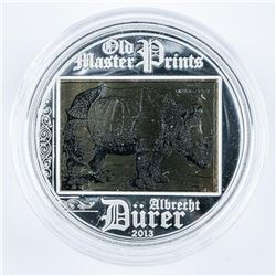 Old Master Prints 2013 925 Sterling Silver  $5.00 Proof LE
