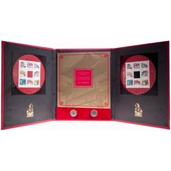 The Gates of Chinatown Exclusive Stamp Pane,  Authentic Dynasty Coins Presentation Folio