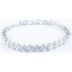 925 Silver Tennis Style Bracelet, 5ct tw  Swarovski Elements