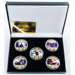 Ironman Medallion Collection 5 - 24kt Gold  Plated Medals with Colour