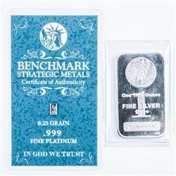 Collector Bullion Bars .999+ Fine Silver and  Platinum