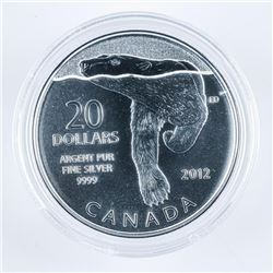 RCM .9999 Fine Silver $20.00 Coin 'OTTER'