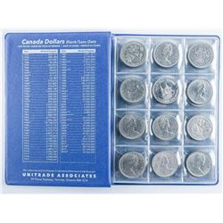 Group of (48) Canadian Nickel Dollars (BOOK)
