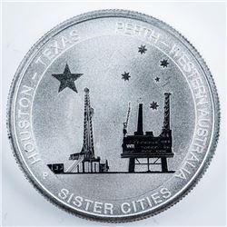 Australia Texas - Houston Commemorative .999  Fine Silver Coin