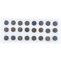 Group of (24) Canada King George Pennies