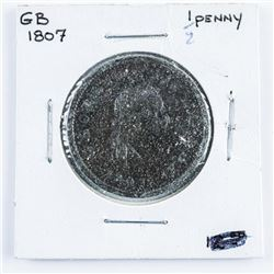 1807 Great Britain 1/2 Penny Coin