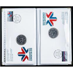 Edmonton 1978 2 Silver Dollar Cover Set