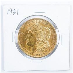 1921 USA Gold Plated Morgan Dollar