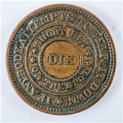 1863 Civil War Token Patriotic - The Flag of  our Union