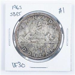 1965 Canada Silver Dollar SB/P5 VF30