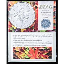Canada .9999 Fine Silver 5.00 Maple Leaf.