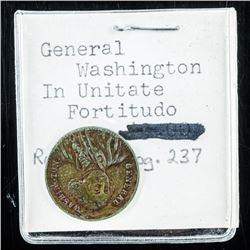 Washington - 1850(S) Game Counter Token -  Quarter Eagle High Grade