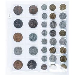 Group of (24) World Coins