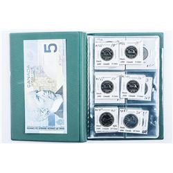 Stock Book - 12 Coins with Silver Plus Bank  of Canada 5.00 Note