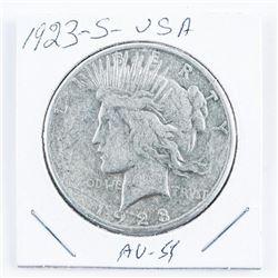 1923-S USA Silver Peace Dollar AU53