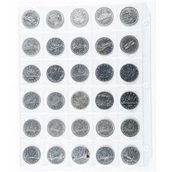 Lot (30) Nickel Dollars Cased