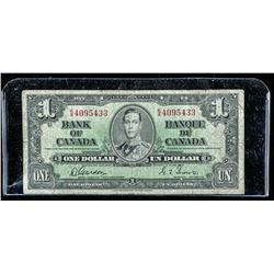 Bank of Canada 1937 1.00 Note (VG) G/T